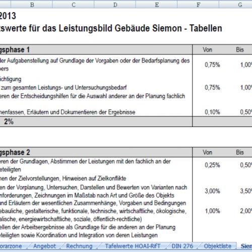 Siemon - HOAI-Excel.de
